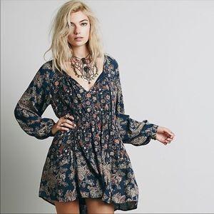 {Free People} Lucky Loosey tunic dress top sz s